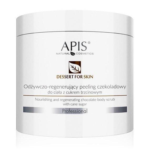 APIS Deser dla Skóry odżywczo-regenerujący peeling czekoladowy z cukrem trzcinowym do ciala 700 ml