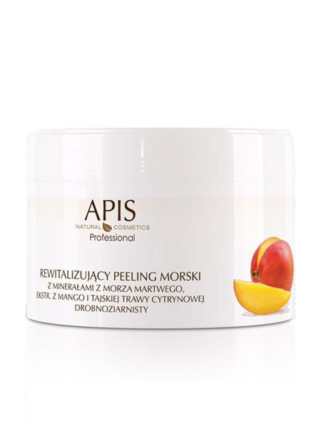 APIS Rewitalizujący peeling morski z minerałami z Morza Martwego, ekstraktem z mango i trawy cytrynowej 300 g
