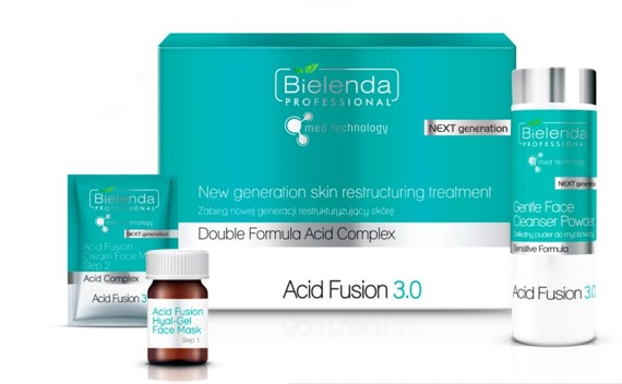 Bielenda Acid Fusion 3.0 Zabieg nowej generacji restrukturyzujący skórę zestaw 5 zabiegów