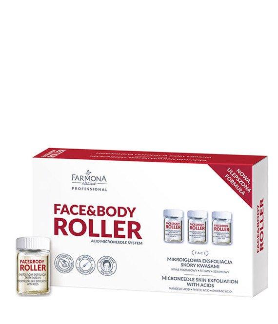 Farmona FACE & BODY ROLLER Mikroigłowa eksfoliacja skóry kwasami 5x5ml